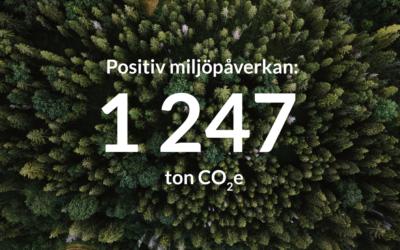 Här är beviset. RP bidrar med positiv miljöpåverkan!